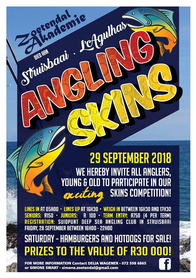 Struisbaai Angling Skins Competition - Welcome to Reiersvlei